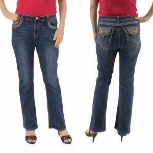 Grace In LA Rhinestone Bootcut Jeans Size 34